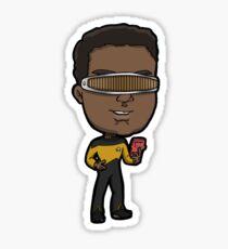 Star Trek TNG Lieutenant Commander Geordi La Forge Chibi Sticker