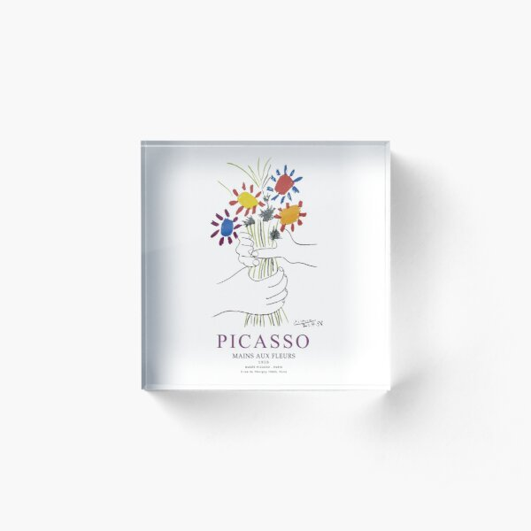 Picasso Exhibition - Mains Aus Fleurs (Hands with Flowers) 1958 Artwork Acrylic Block