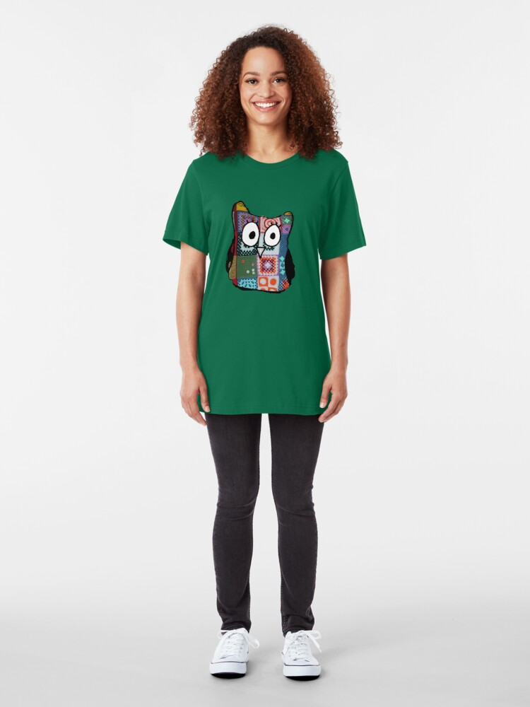 Alternate view of Patchwork Owl Slim Fit T-Shirt
