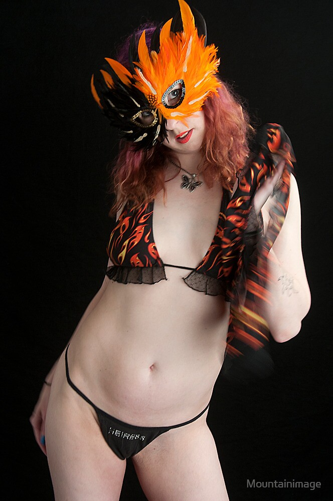 Masked woman by Mountainimage
