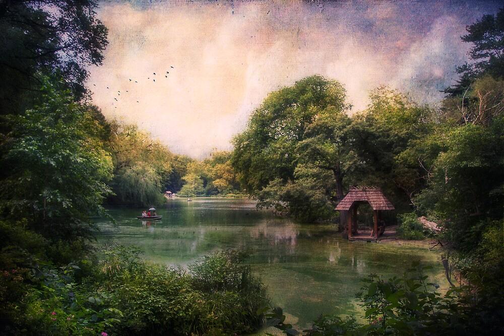 Lake in Central Park by John Rivera