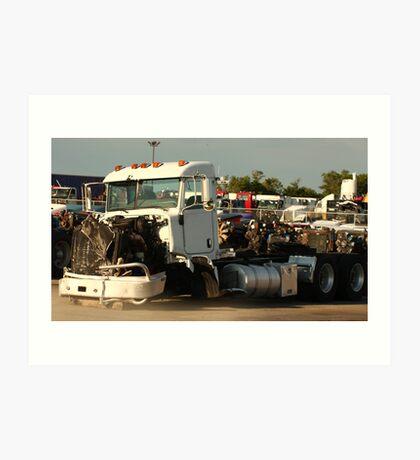 Truck 7946 White Art Print