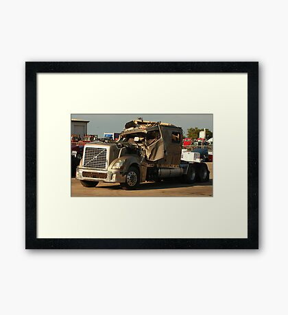 Truck 7949 Green Framed Print