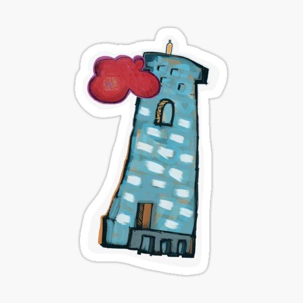 Red Cloud, Blue Tower Sticker