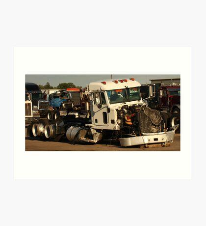 Truck 7952 White Art Print