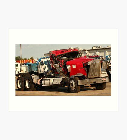 Truck 7953 Red Art Print