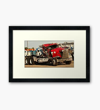 Truck 7953 Red Framed Print