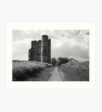 Donnington Castle BW Art Print