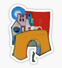 Green Man at The Orange Arch Sticker