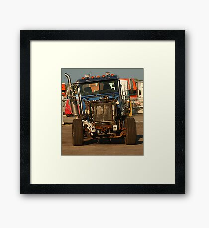 Truck 7957 Blue Framed Print
