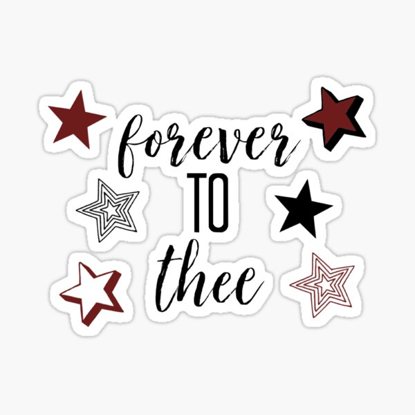 stars forever to thee Sticker
