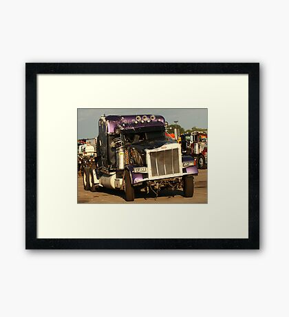 Truck 7950 Purple Framed Print