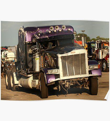 Truck 7950 Purple Poster