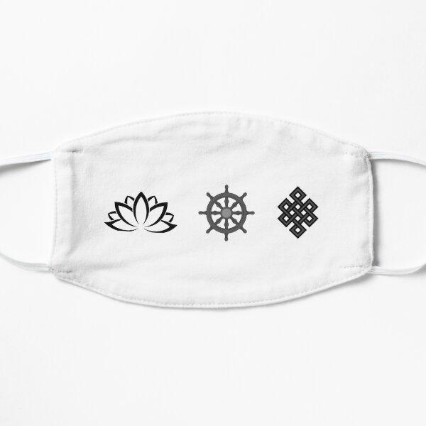 Lotus Flower, Dharma Wheel, and Endless Knot Flat Mask