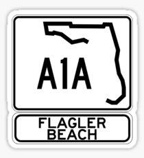 A1A - Flagler Beach  Sticker