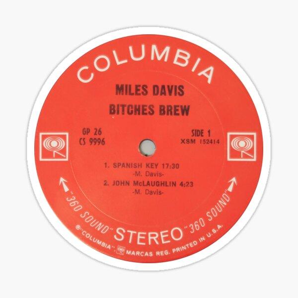 Miles Davis Bitches Brew label Sticker