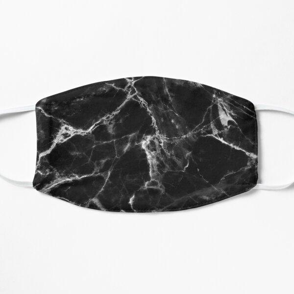 Smoked Black Marble Flat Mask