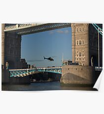 Tower Bridge and Helicoptor Poster