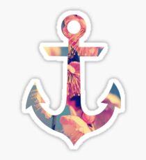 Floral Anchor Sticker
