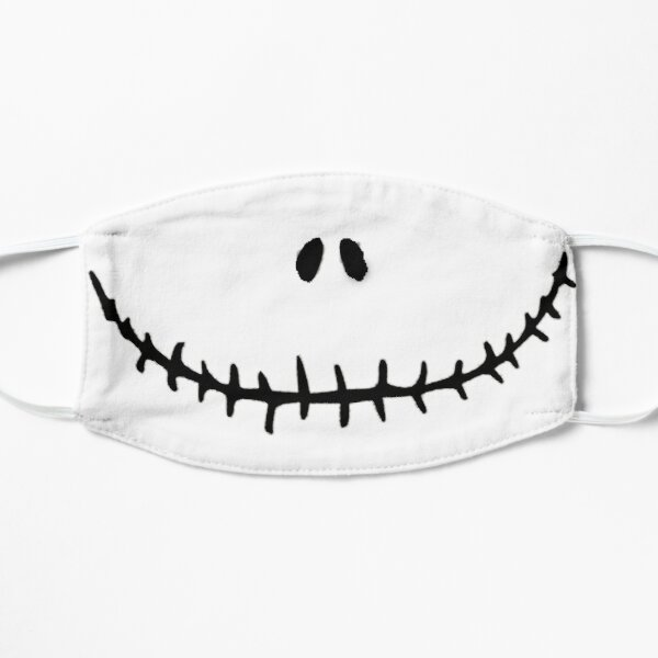 Skellington mask Flat Mask