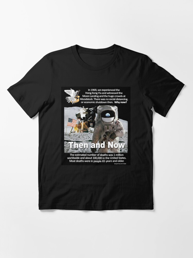 Alternate view of Then and Now Essential T-Shirt
