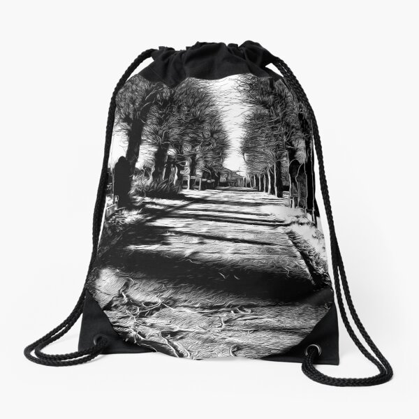 The way out Drawstring Bag