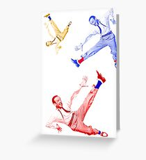 Jumping Fred Flash 1 Greeting Card