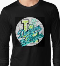DODGERS BLACK Long Sleeve T-Shirt