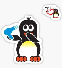 Bathroom Penguin - Blow Dry Sticker