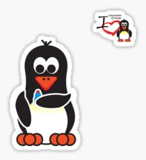 Bathroom Penguin - Lipstick Sticker