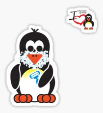 Bathroom Penguin - Shave Sticker