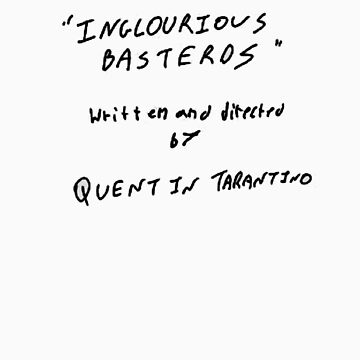 Quentin Tarantino - Inglourious Basterds script by WarnerStudio