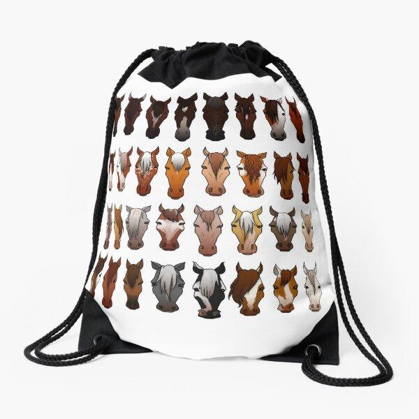 Horses Drawstring Bag