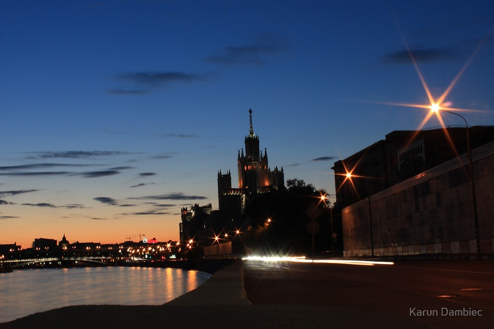 Moscow by Night by Karun Dambiec