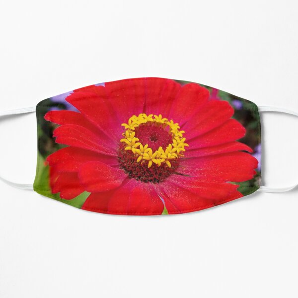Red zinnia - blazing ring of fire Mask