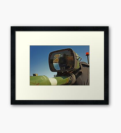 Barrel mounted M-60 Tank Light Framed Print