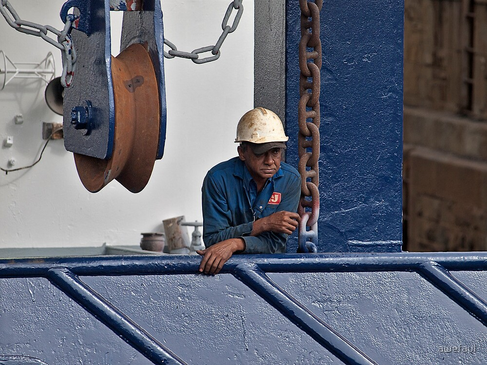Worker relaxing by awefaul