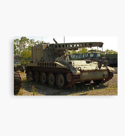 Armored Crane Image 7854 Canvas Print