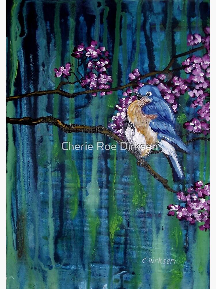 Blossoming Bluebird by cheriedirksen