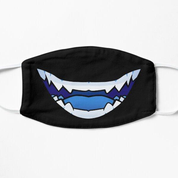 Oni dientes de demonio Mascarilla plana