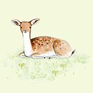 Happy Fallow Deer by Sophie Corrigan