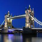 Tower Bridge at night by Jasna