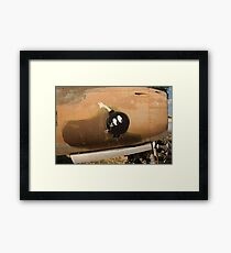 An Image of Luck Painted on Jet Engine Housing Framed Print