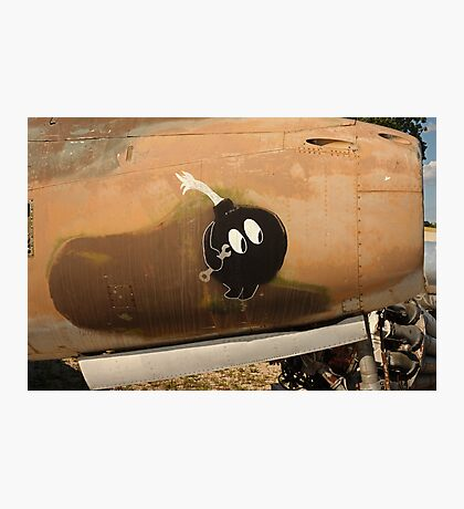 An Image of Luck Painted on Jet Engine Housing Photographic Print