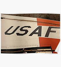 USAF Logo on Wing Poster