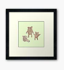 Three Bears Framed Print