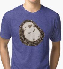 Plump Hedgehog Tri-blend T-Shirt