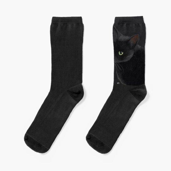 Black cat in the dark Socks