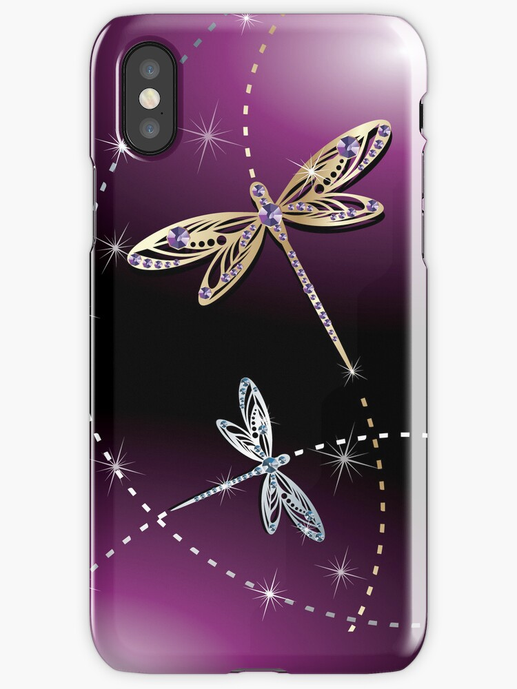 Girly Glamour Diamond Butterflies  iPhone 5 Case / iPhone 4 Case  / Samsung Galaxy Cases  by CroDesign