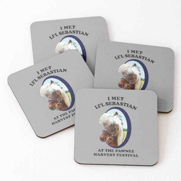 Lil Sebastian - Parks and Recreation Coasters (Set of 4)